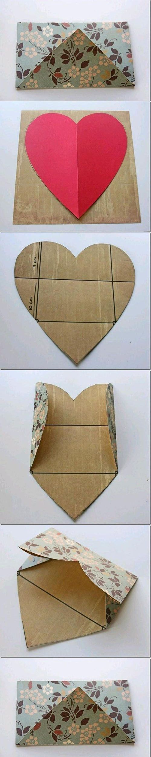 Diy Beautiful Envelope | DIY & Crafts Tutorials Precut hearts...kids can write or draw and send to someone