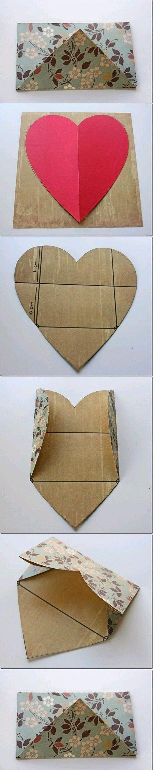 herzliches Kuvert für die Glückwunschkarte | DIY & Crafts Tutorials