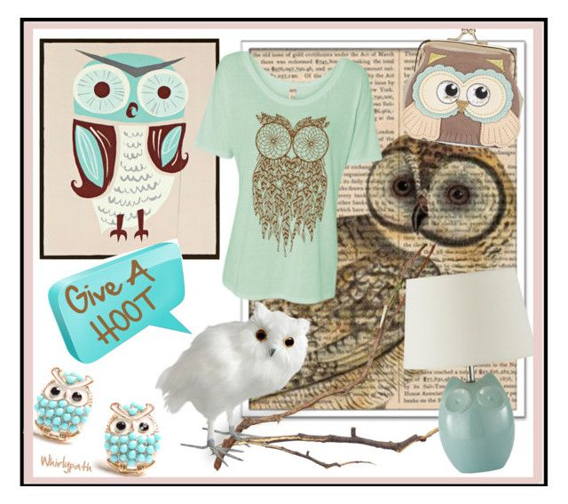 Give A Hoot! by whirlypath on Polyvore featuring New Look and Universal Lighting and Decor