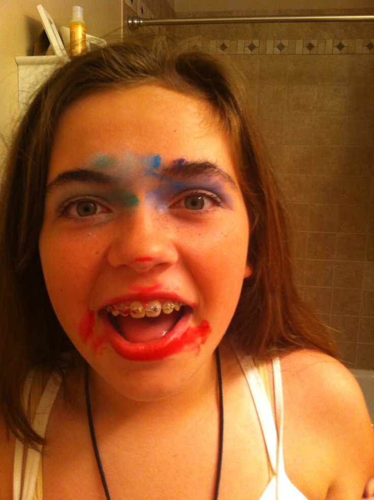 Dark makeovers!!! Shut the door turn the lights off and try to do your best friends makeup!!! Outcomes are funny!!! This is a great sleepover idea!!!
