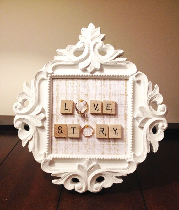 White Sabby Chic Frame Ring Holder by KeepCalmAndHangOn on Etsy, $22.00