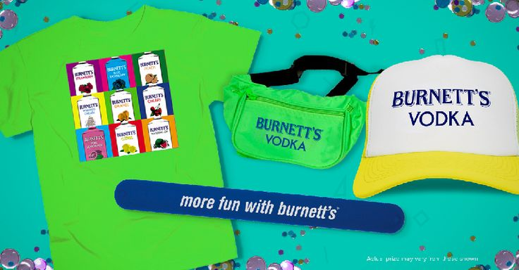 Burnetts Vodka Throwback Shots Photo Contest - http://sweepsmeoffmyfeet.com/2015/03/13/burnetts-vodka-throwback-shots-photo-contest/  Burnetts Vodka is giving you a chance to win Burnett's Vodka-branded Prize Package, which includes fanny pack, neon blue slap bracelet, neon t-shirt, and one trucker hat!   #Bracelet, #ThrowbackShotsPhotoContest