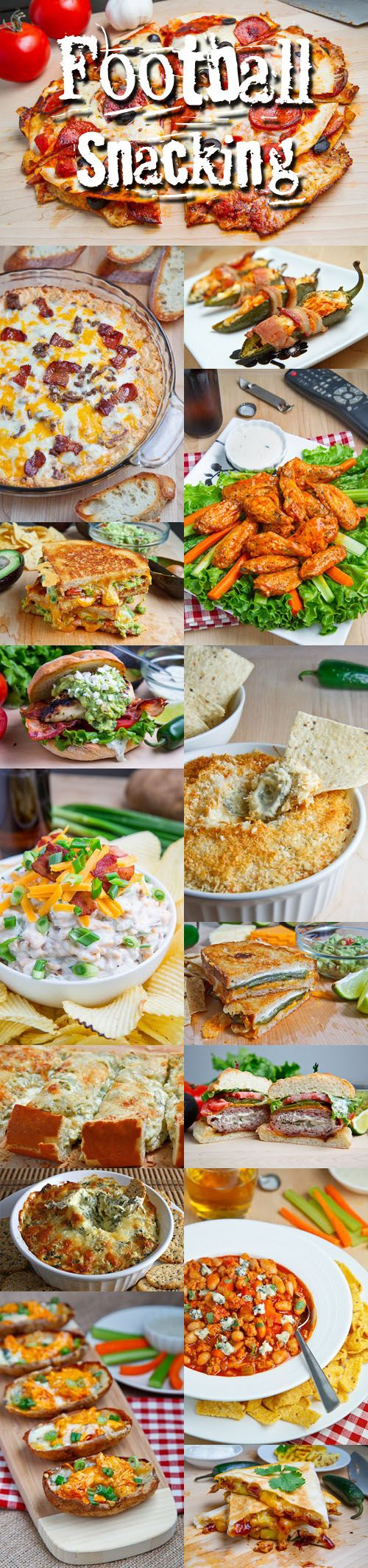 FOOTBALL SEASON SNACKING: ~ Recipe Courtesy of Kevin Lynch. ~ Over (50) wonderful snacking recipes to enjoy.