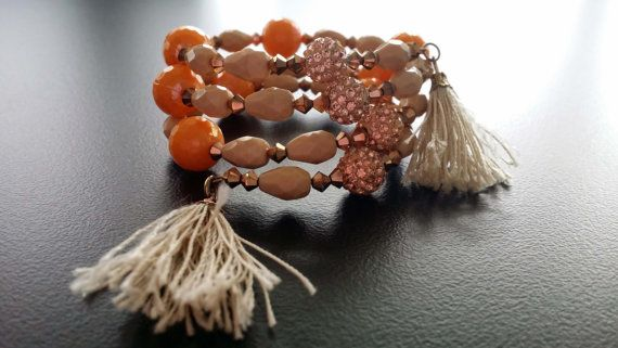 Handmade Bracelet memory wire with presioca antique by BYTWINS, €40.00