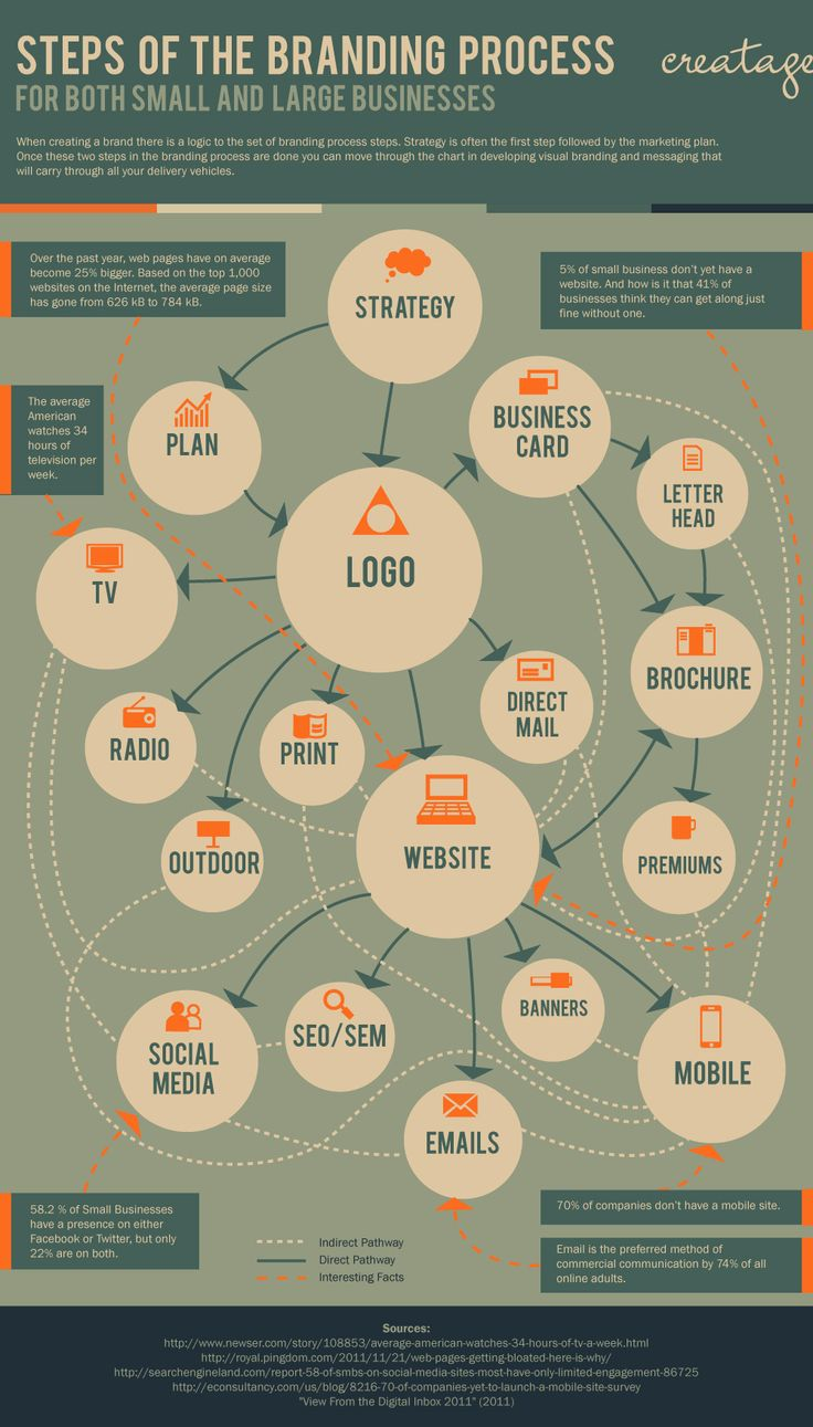 Steps of the Branding Process Infographic