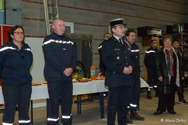 Remise de galons aux jeunes sapeurs-pompiers du Conflent