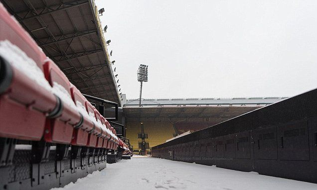 Watford offer free tickets to fans who clear snow at Vicarage Road