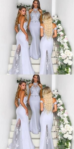 Mermaid High Neck Lace Long Bridesmaid Dresses With Trailing ,Cheap Bridesmaid Dresses,WGY0360 Mermaid High Neck Lace Long Bridesmaid Dresses With Trailing ,Cheap Bridesmaid Dresses,WGY0360