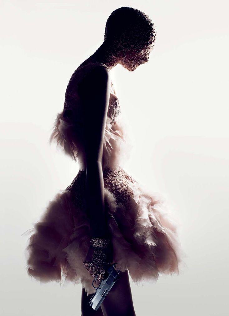 "sirensongfashion: "" Alexander McQueen Spring 2012, designed by Sarah Burton, photographed by Fabien Baron & David Burton """