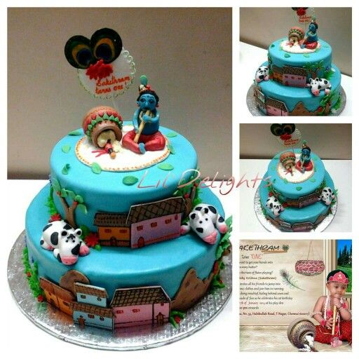 Another Krishna theme cake ! Cakes by Lil Delights ...