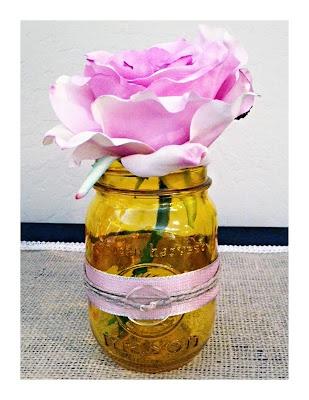 {DIY} Stained Mason Jars