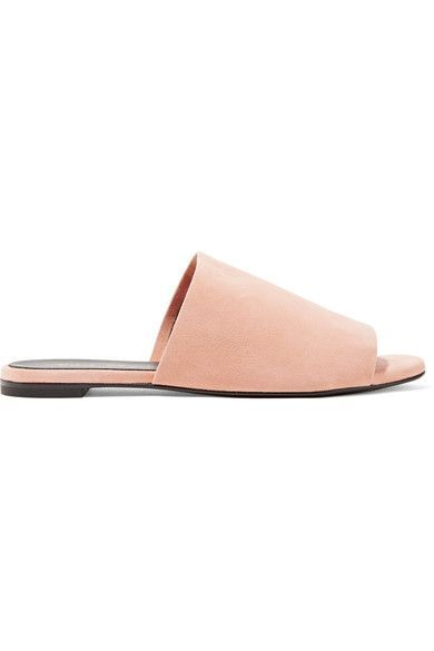 Robert Clergerie - Gigy Suede Slides - Pastel pink - IT40.5