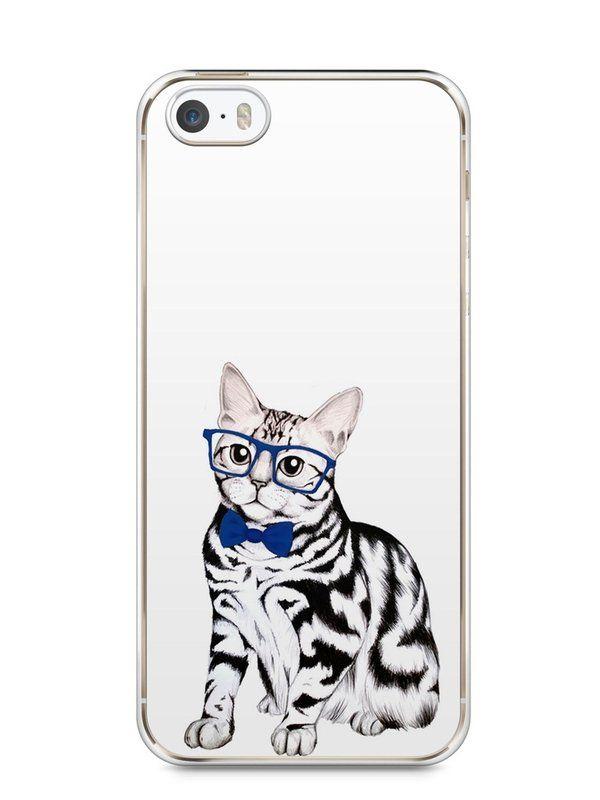 Capa Iphone 5/S Gato Estiloso - SmartCases - Acessórios para celulares e tablets :)