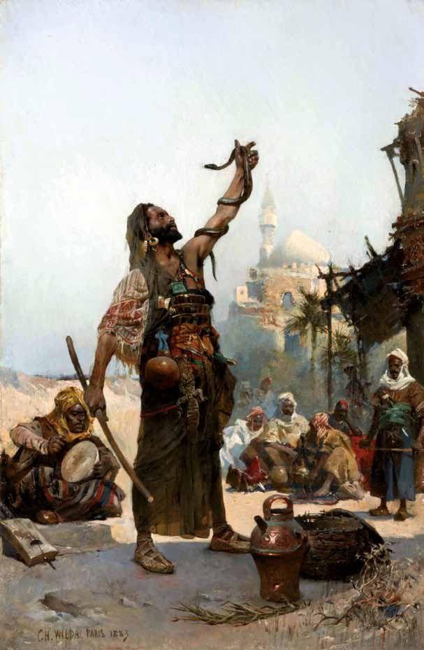 'The Snake Charmer'(1883) - Charles Wilda (1854-1907)