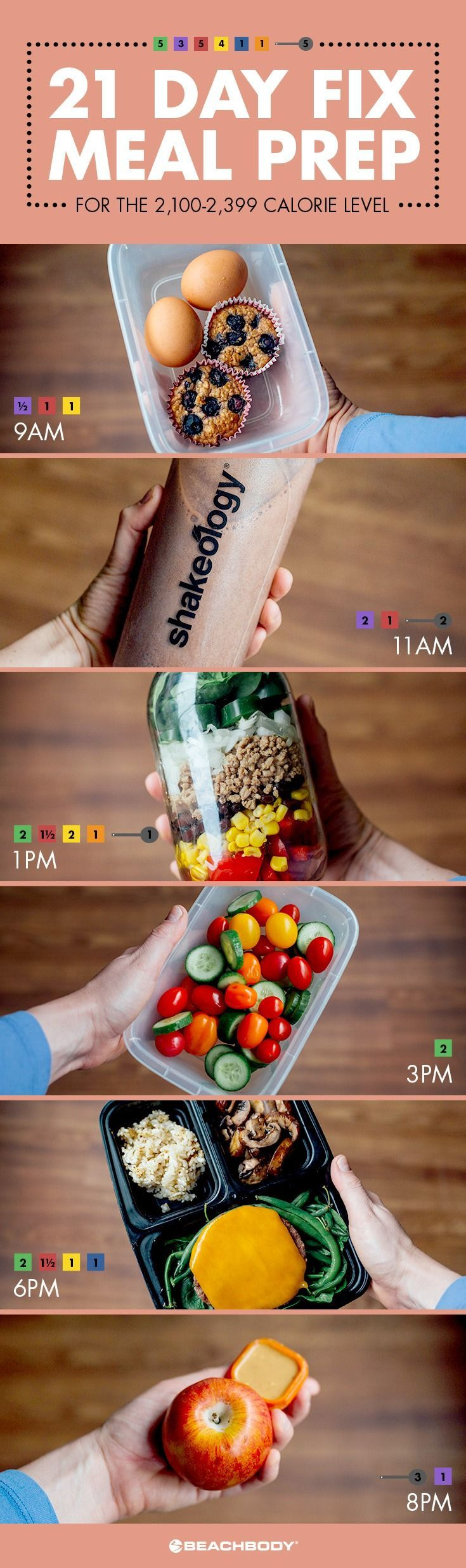 Quick and simple 21 Day Fix meal preps for every calorie level! // meal prep // meal planning // 21 day fix // 21dayfix // 21df // lunch // lunch combos // bento boxes // fresh food // healthy eating // healthy // clean eating // Beachbody // BeachbodyBlog.com