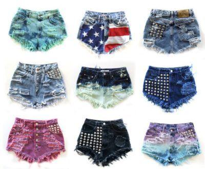 lindos modelos de shorts desfiados curtos