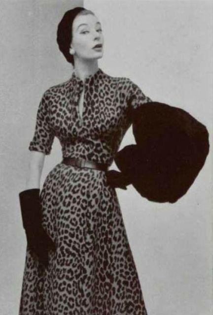 1952 Dior Fashion Style Vintage Photo Print Ad Model
