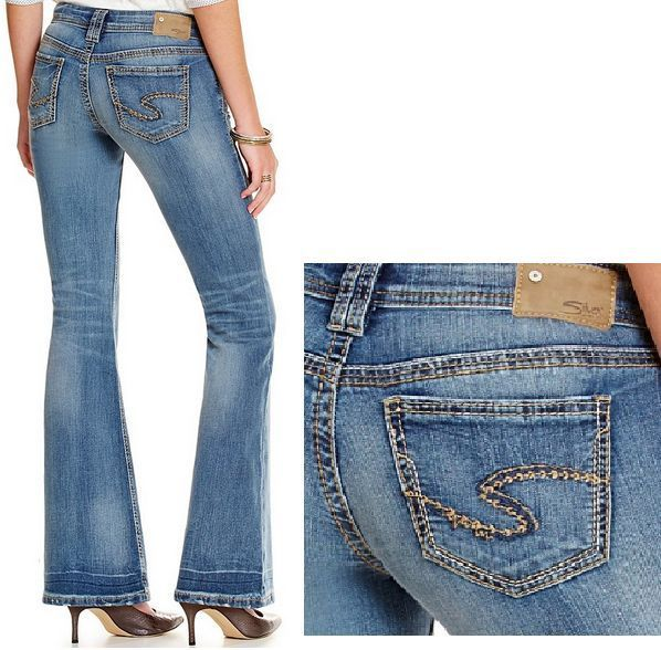 W31 X L32 AIKO MID FLARE JEANS WOMENS SILVER JEANS NEW - HOT- #SilverJeans #Flare