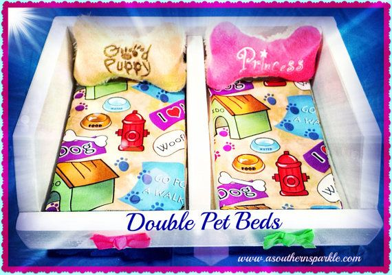Double Pet Bed for American Girl Doll Pets and by ASouthernSparkle, $65.00