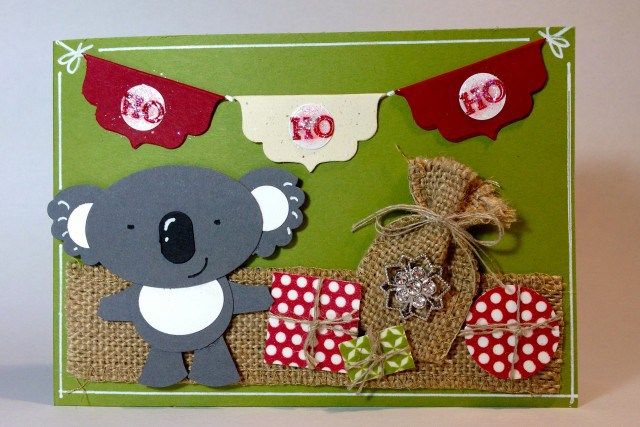 The latest in my Punch Art Koala series. See my blog for full details http://carolynbennieink.wordpress.com/2013/09/01/artful-stampers-holiday-catalogue-blog-hop-koala-punch-art