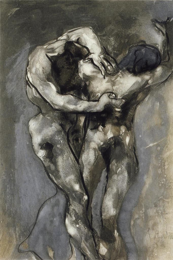The Heretics, c. 1897 Auguste Rodin sculptures, plastic arts, visual arts, fin art, art, realism, impressionism