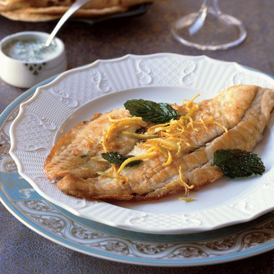 Stuffed Flounder with Frizzled Mint and Ginger | Food & Wine