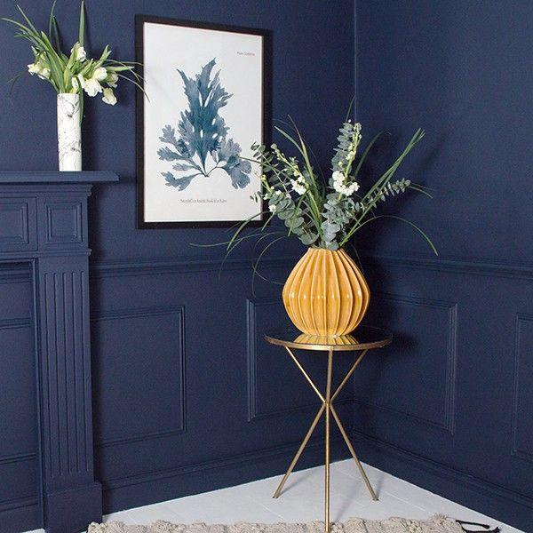 large ochre geo vase