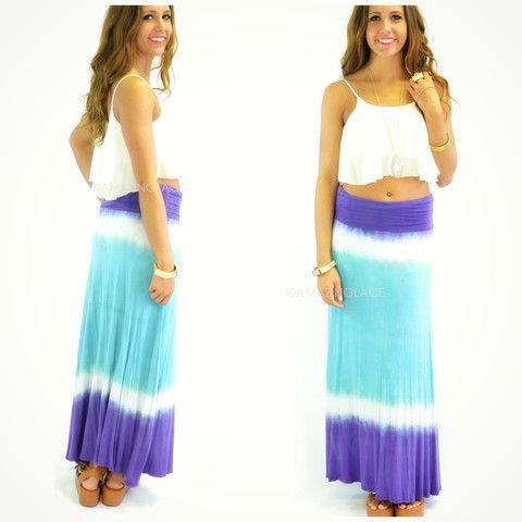 Three Dots Tie Dye Skirt 73