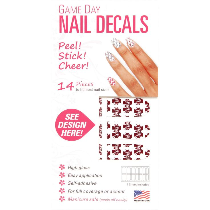 Mississippi State Bulldogs Game Day Nails - $3.99