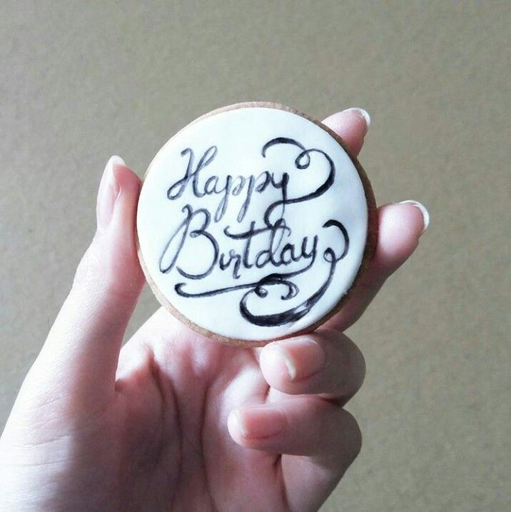 """Calligraphy cookie. Forgot the """"h"""" but meh...  #calligraphycookie #calligraphy #sugarcookie  Instagram : qmjft"""