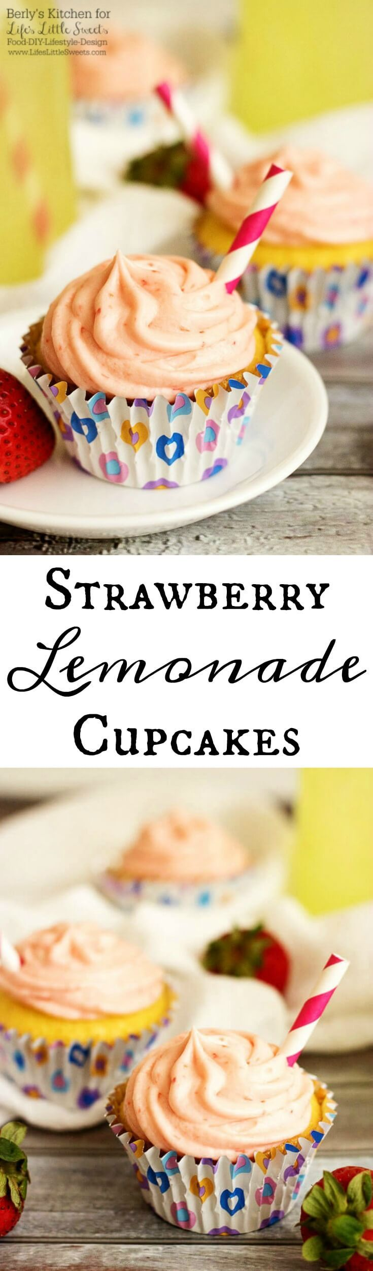 Mother's Day is almost upon us and what better way to show you care than to make something special for your amazing Mom? These Strawberry Lemonade Cupcakes are a semi-homemade but utterly delicious Mother's Day treat full of tangy lemon and strawberry flavors.