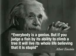 Een levensverhaal op zich: een prachtige Einstein spreuk.