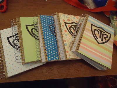 CTR is the Primary theme.  These are great little journals for birthday gifts.  I got them at the dollar store.