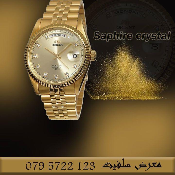 ساعة اورينت اليابانية والمكفولة محليا ودوليا تجدونها لدى معرض سلفيت وسط البلد شارع فيصل Watches Amman Jordan عمان الأردن Gold Watch Rolex Watches Gold