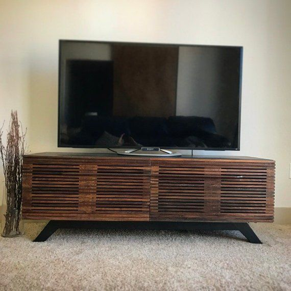 Mid Century Modern Tv Console Stand Unit Entertainment Center Media T
