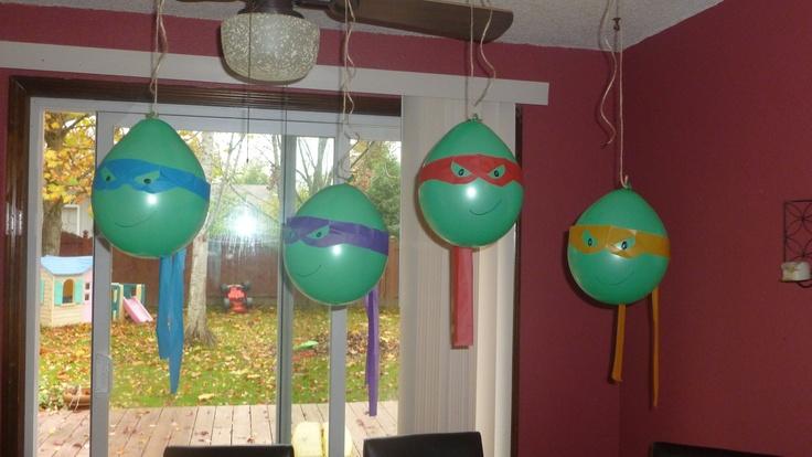 Ninja turtle ballons
