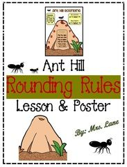 Ant Hill Rounding Rules Lesson And Poster - Are your students learning to round numbers