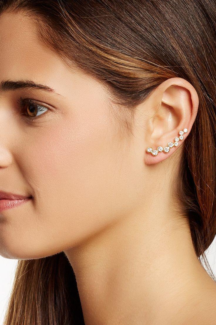 Ryder Shimmer Ear Climbers in Gold Gorjana TeIc7TA