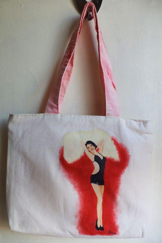 Dita von Teese / Pin Up Tote bag, Handbag, Bag, Purse