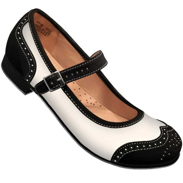 These are women's feather-light Round Toe Mary Janes with a Perforated Wingtip and a very low heel and suede-bottom sole made for swing dancing. Mary Janes are