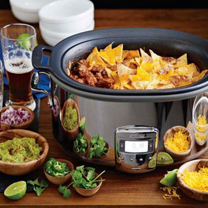 Slow Cooker Smoky Beef Chili with Tortilla Chip Crust | Williams-Sonoma