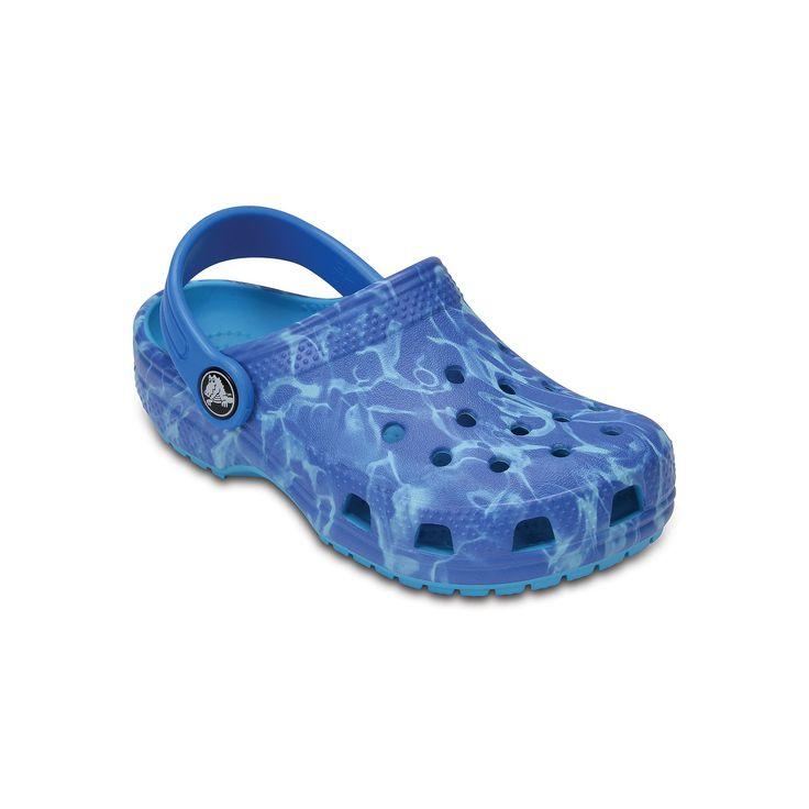 Crocs Classic Graphic Kids Clogs, Size: 10 T, Brown Over