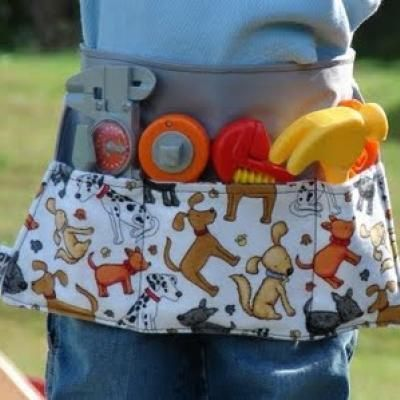 this is so cute and as the monkey has tools, why not? who says manny is just for boys!
