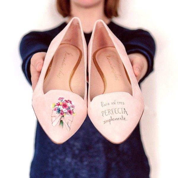 Zapatos de mujer pintados a mano