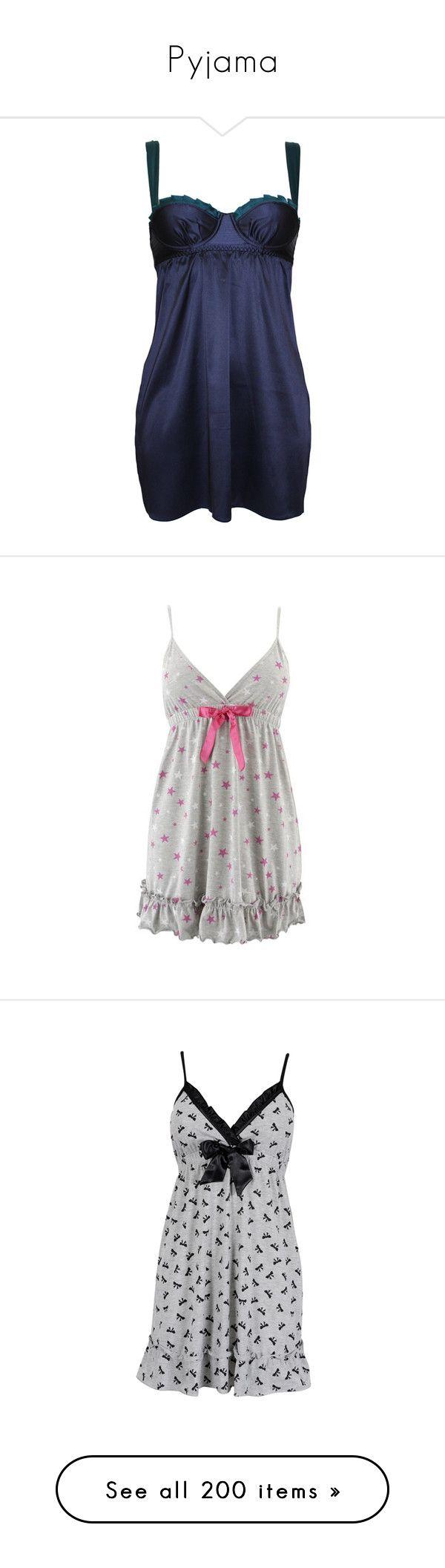 """Pyjama"" by alejaborrayo ❤ liked on Polyvore featuring intimates, sleepwear, nightgowns, dresses, lingerie, pajamas, babydoll lingerie, babydoll nightie, baby doll nightgown and lingerie sleepwear"