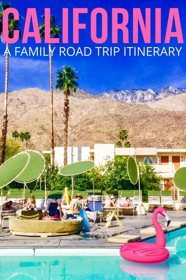 A California Road Trip With Kids La Palm Springs Santa Barbara California Travel Road Trips Road Trip With Kids California Coast Road Trip