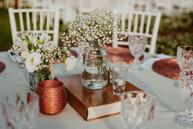 Decoração Centro de mesa do casamento @viihrocha