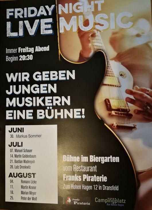 #Friday #Night #Live #Music mit Markus Sommer auf dem #Campingplatz #Dransfeld