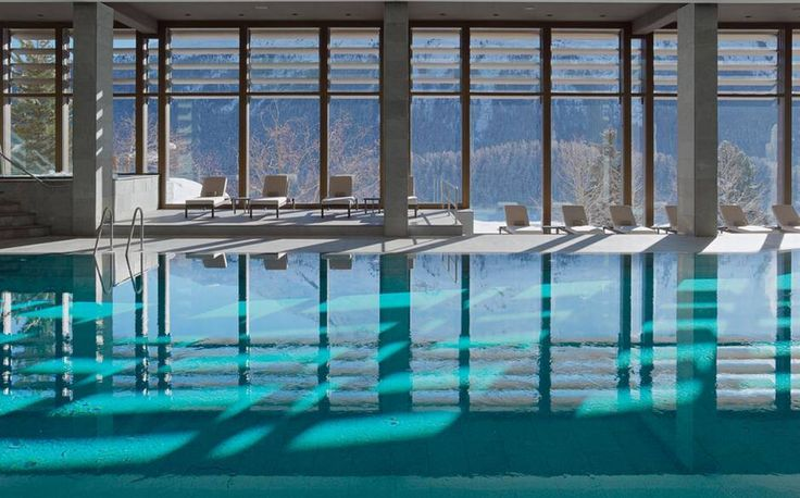 A modern and stylish addition to Switzerland's long-standing Kulm Hotel, the Kulm spa comes complete with sauna, steam room, indoor pool, outdoor pool and more, but it's perhaps its setting that's most impressive. It looks out at a rugged, soaring stretch of the Swiss Alps and, below, the expansive St. Moritz lake which freezes over in winter and glistens alluringly in summer.  Read the complete Kulm Hotel spa review