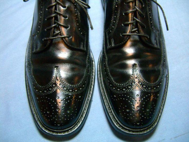 Men's Dress Shoes FLORSHEIM IMPERIAL Oxford SZ 10 D Black Leather NEW HEELS!6166 #Florsheim #WingTip